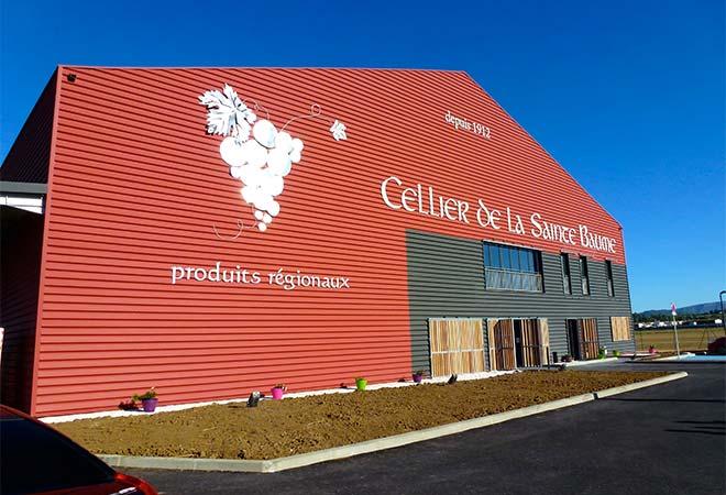 Création cave coopérative Cellier de la saint Beaume batiment vinicole bureau d