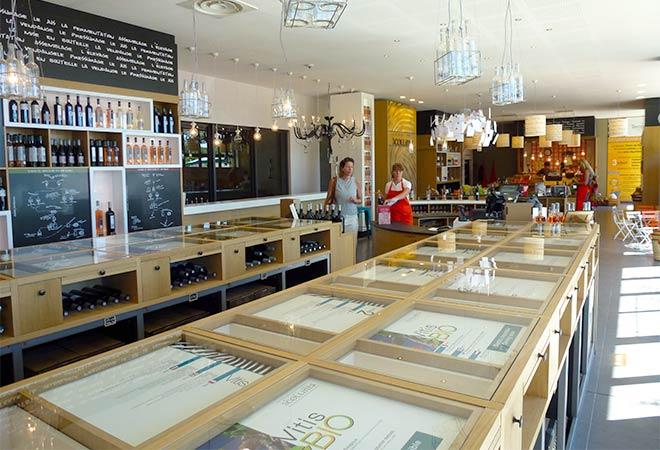 Création cave coopérative Cellier des 3 collines caveau ventes Maitrise d'oeuvre vinicole INGEVIN