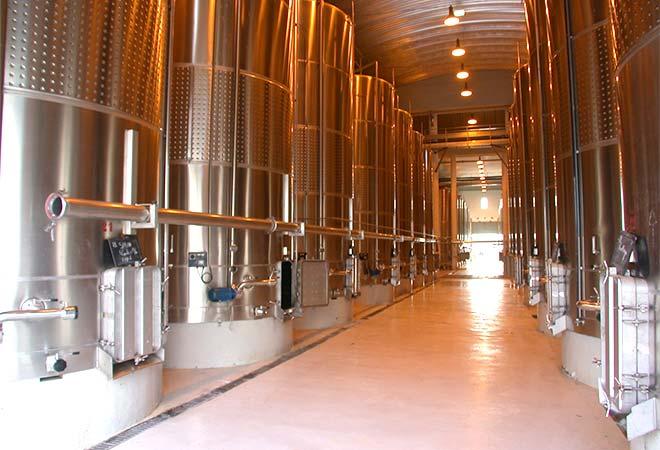 Création cave vinicole cépages de Meknès Groupe Castel Cuverie Maroc bureau d'études vinicoles INGEVIN