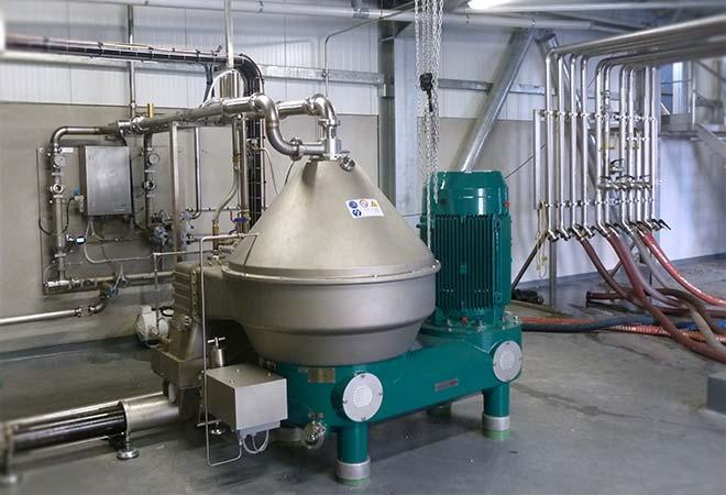 Restructuration cave coopérative Saint Pey de Castets centrifugeuse maitrise d'oeuvre vinicole INGEVIN
