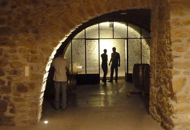 Création cave vinicole Domaine La Combe chai intérieur bureau d'ingénierie vinicole INGEVIN