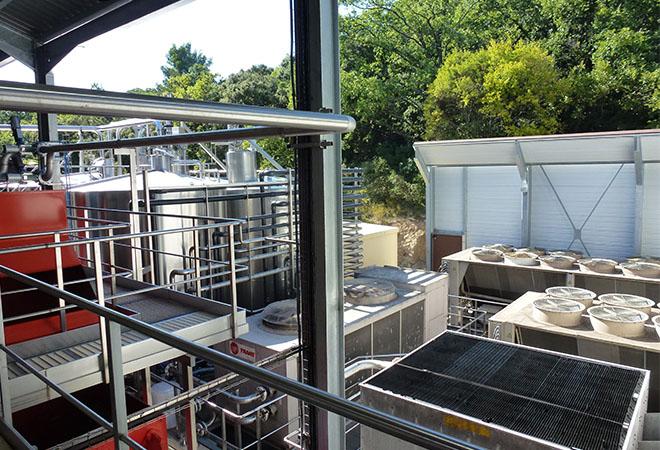 Restructuration cave coopérative la Suzienne bureau d'ingénierie vinicole INGEVIN