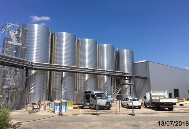 Modernisation de la cave coopérative de Buzet sur Baise maitrise d'oeuvre vinicole INGEVIN Vue 8