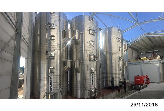 Restructuration cave cooperative d'ESTEZARGUES plan du projet maitrise d'oeuvre viticole INGEVIN vue 18