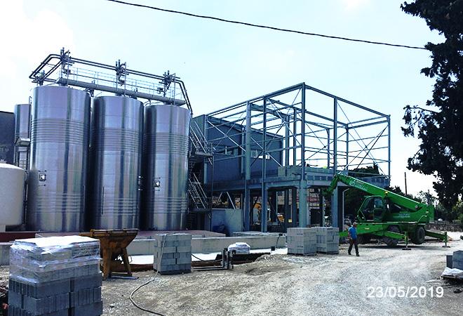 Modernisation de la cave coopérative d'Aramon maitre d'oeuvre vinicole INGEVIN Vue 16